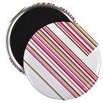 "Retro Stripe 2.25"" Magnet (10 Pk)"