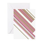 Retro Stripe Greeting Cards (Pk of 20)