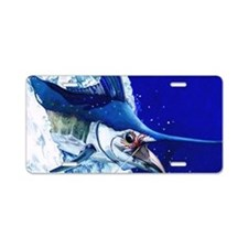 Blue Marlin Aluminum License Plate