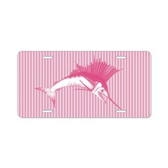 Pink Sailfish Aluminum License Plate