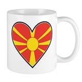 Macedonia Heart Flag Mug