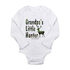 Grandpa's Little Hunter Long Sleeve Infant Bodysui