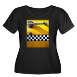 Checker Cab No. 8 Women's Plus Size Scoop Neck Dar