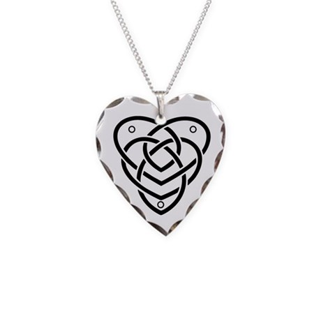 Celtic Motherhood Knot Necklace Heart Charm