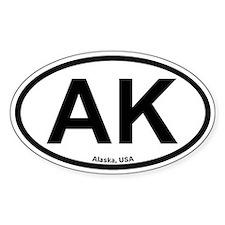 Alaska Oval Bumper Stickers