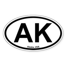 Alaska Oval Decal