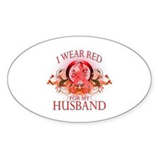 I Wear Red For My Husband (floral) Decal