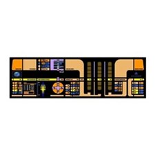 Star Trek Transporter LCARS 21inX7in Wall Peel