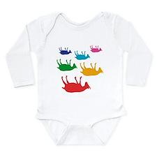 Fainting Goats Rainbow Long Sleeve Infant Bodysuit