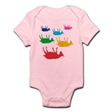 Fainting Goats Rainbow Infant Bodysuit