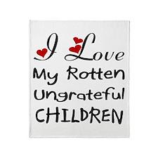 Rotten Children Throw Blanket