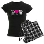 Peace Love Paws Women's Dark Pajamas