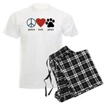 Peace Love Paws Men's Light Pajamas