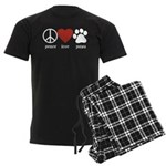 Peace Love Paws Men's Dark Pajamas