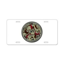 Celtic Deer Knotwork Aluminum License Plate