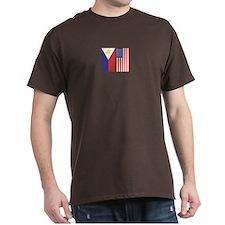 Philippine Flag & US Flag v2 T-Shirt