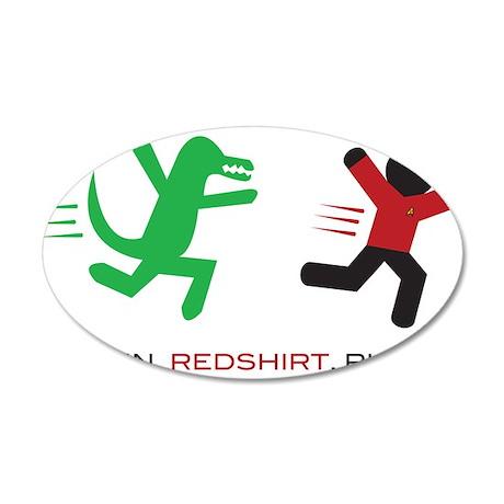 Run, Redshirt, Run! 22x14 Oval Wall Peel