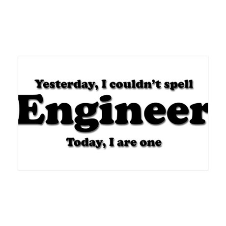 Can't spell Engineer 38.5 x 24.5 Wall Peel