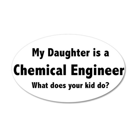 Chemical Engineer Daughter 22x14 Oval Wall Peel