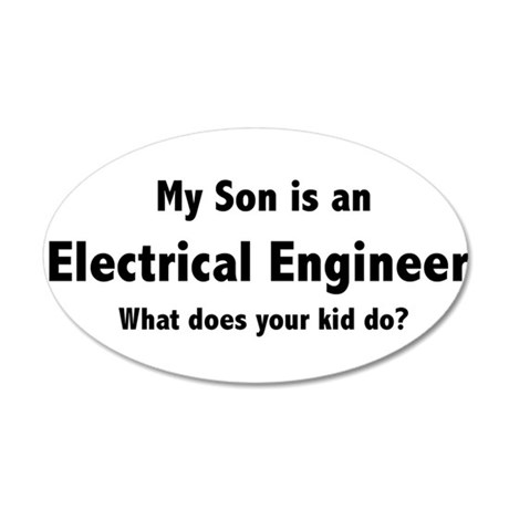 Electrical Engineer Son 22x14 Oval Wall Peel