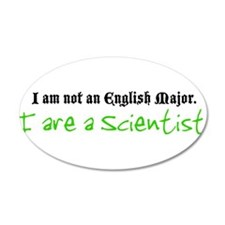 I are a Scientist 38.5 x 24.5 Oval Wall Peel
