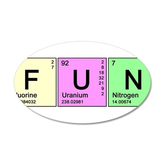 Periodic Fun 22x14 Oval Wall Peel