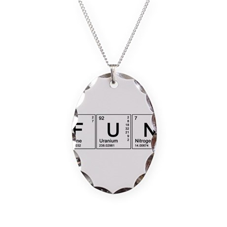 Periodic Fun Necklace Oval Charm