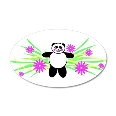 Pretty Panda 22x14 Oval Wall Peel