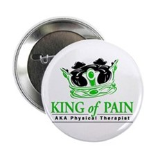 "Physical Therapy ""King"" 2.25"" Button"