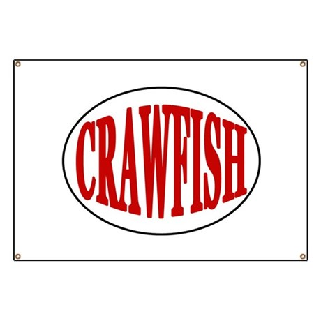 Crawfish Oval Banner