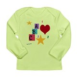 Funny Star block Long Sleeve Infant T-Shirt