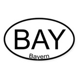 Oval Sticker Bavaria