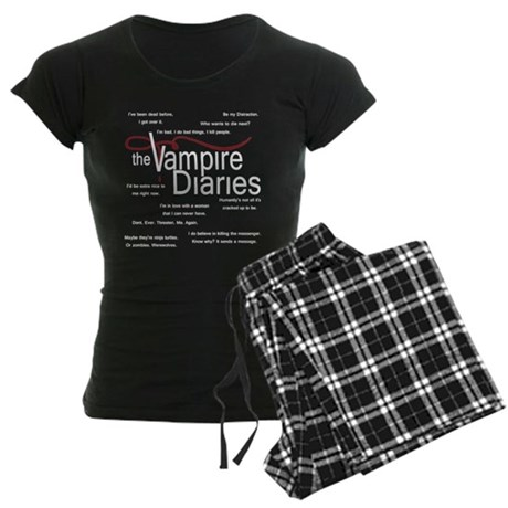 Vampire Diaries Quotes Women's Dark Pajamas