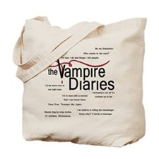 Vampire Diaries Quotes Tote Bag