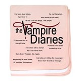 Vampire Diaries Quotes baby blanket