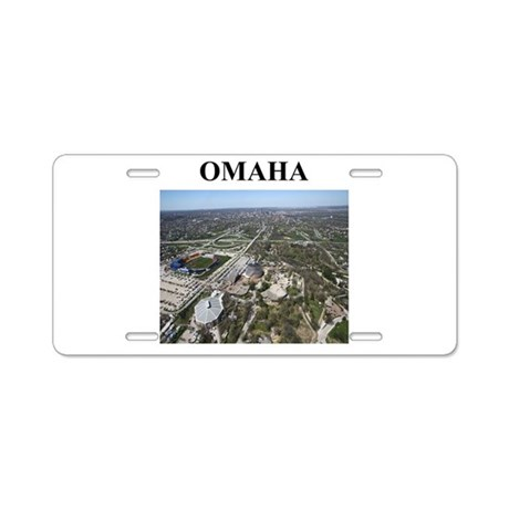 omaha gifts and t-shirts Aluminum License Plate