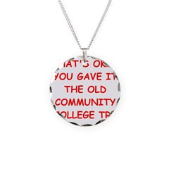 funny geek Necklace Circle Charm