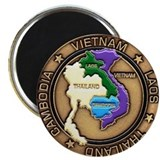 VIETNAM, LAOS, CAMBODIA, THAILAND Magnet