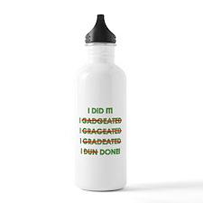 Funny Graduation Sports Water Bottle