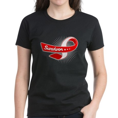 Oral Cancer Survivor Women's Dark T-Shirt