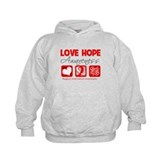 Oral Cancer Love Hope Hoodie