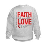 Oral Cancer Faith Sweatshirt