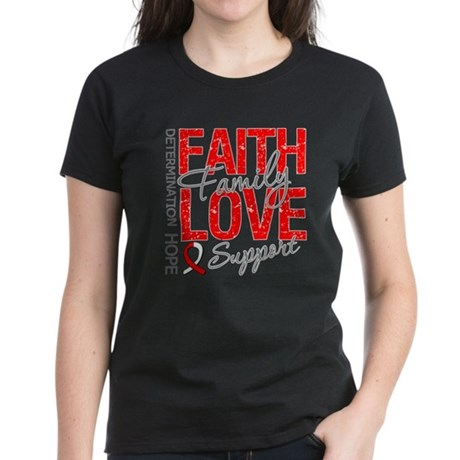 Oral Cancer Faith Women's Dark T-Shirt