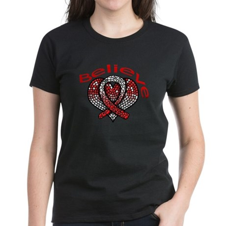 Oral Cancer Believe Women's Dark T-Shirt
