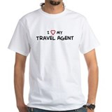 I Love Travel Agent Shirt