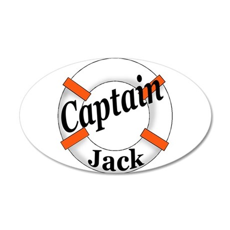 Captain Jack 35x21 Oval Wall Decal