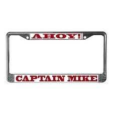 Captain Mike License Plate Frame