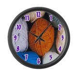 Balls of Yarn Large Wall Clock