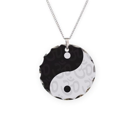 Ying Yang Yoga Necklace Circle Charm