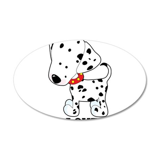 Dalmatian Lover 22x14 Oval Wall Peel